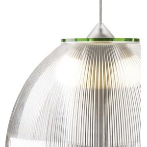 Lampadario a sospensione Ø52xh36 cm interno prismatico Cappellino gigante Verde