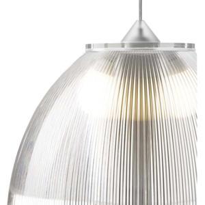 Lampadario a sospensione Ø52xh36 cm interno prismatico Cappellino gigante Trasparente