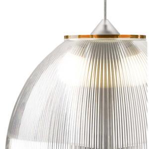 Lampadario a sospensione Ø52xh36 cm interno prismatico Cappellino gigante Arancio