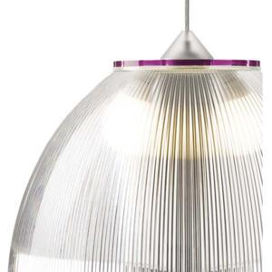 Lampadario a sospensione Ø52xh36 cm interno prismatico Cappellino gigante Fucsia