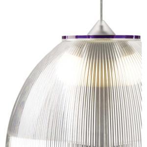Lampadario a sospensione Ø52xh36 cm interno prismatico Cappellino gigante Viola