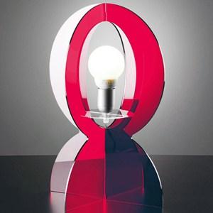 Abat-Jour in plexiglas colorato trasparente BASCO 21.5xh30 cm in rosso trasparente