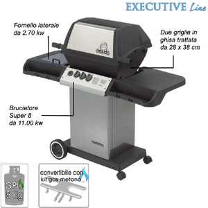 Barbecue Monarch 40 bruciatore super 8 da 11 Kw Broil King