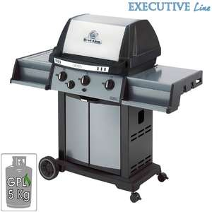Barbecue Broil King Crown 340 Tre bruciatori Dual-Tube 11.4 Kw Fornello laterale in acciaio Inox da 2.7 Kw