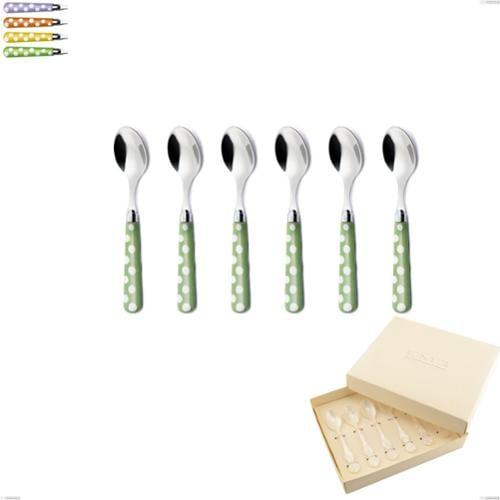 Confezione bomboniera 6 pezzi cucchiaini da caffè Ballon, (acciaio 18.10 aisi304), manico in nylon sublimato