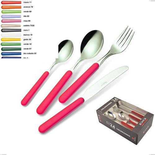 Confezione colorando 24 pezzi posate Bonita, 18/C (AISI430)