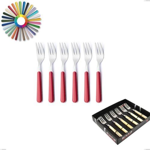 Confezione vetrina 6 pezzi forchette dolce Brio, Acciaio inox 18.c (AISI 430), manici in abs