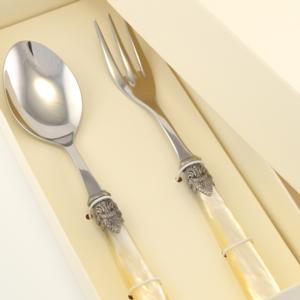 Confezione due pezzi Posate a Servire NAPOLEON composizione Cucchiaione e Forchettone scatolati