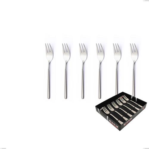 Confezione vetrina 6 pezzi forchettine dolce Celtika sabbiato, Inox 18.10 (AISI304), spessore 5.00