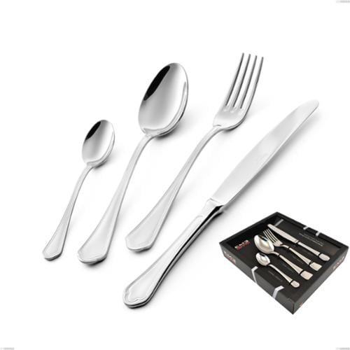 Confezione vetrina 24 pezzi coltello manico vuoto Domus, inox 18.10 (AISI304), spessore 3.0 mm