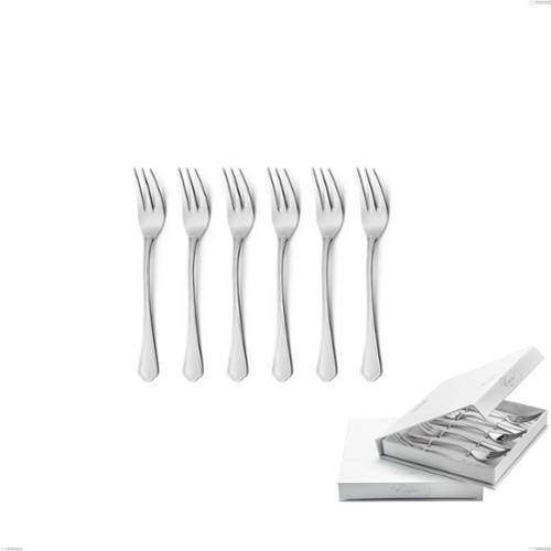 Confezione a libro 6 pezzi forchette dolce Domus, inox 18.10 (AISI304), spessore 3.0 mm