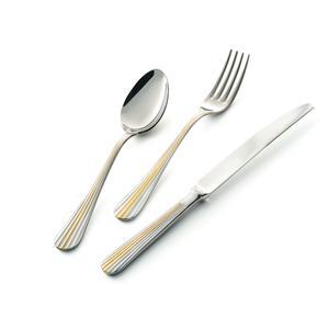 Servizio Posate EDEN ORO 24 pezzi in acciaio 18/10 lucidate a specchio spessore 3 mm in Confezione Vetrina