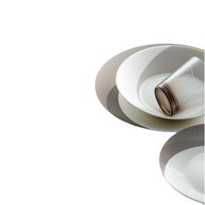 Posto Tavola NATURA LAND in New Bone China lavabile in lavastoviglie 3 pezzi