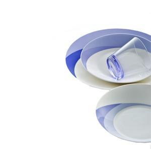 Posto Tavola NATURA WATER in New Bone China lavabile in lavastoviglie 3 pezzi