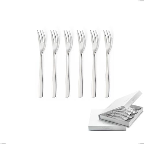 Confezione a libro 6 pezzi forchette dolce Eleven, (acciaio 18.10 aisi304), spessore 2.5 mm