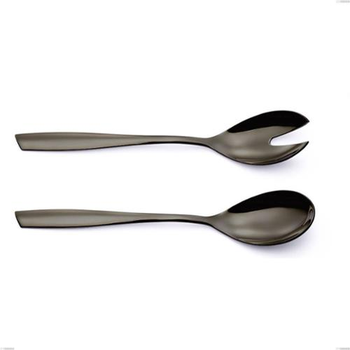 Coppia insalata Acciaio inox 18/10 PVD Black Eleven lunghezza 253 mm spessore 2,5 mm nero