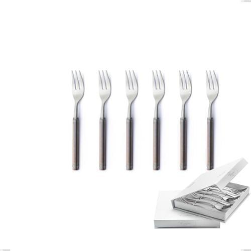 Confezione a libro 6 pezzi forchette dolce Fuoco, Acciaio inox 18.10 (AISI304)