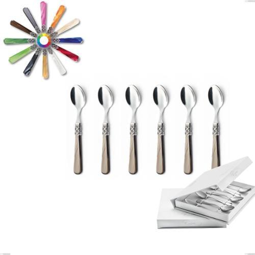 Confezione a libro 6 pezzi cucchiaino moka Ginevra, (acciaio 18.10 aisi304), manico in metacrilato