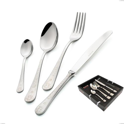 Set Posate HERMITAGE 24 pezzi in acciaio 18/10 lucidate a specchio spessore 2,5 mm in Confezione Vetrina