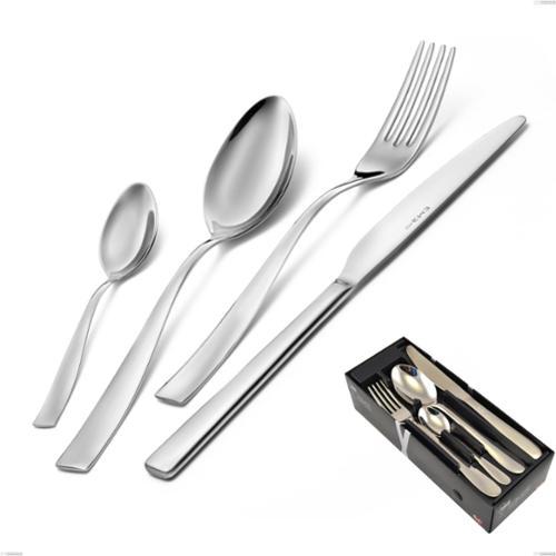 Confezione salvaspazio 24 pezzi Infinity acciaio lucido 2,5 mm, 18/10 (AISI304) , spessore 2,5 mm
