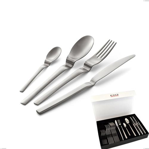 Confezione panoramica libro 24 pezzi coltello economico Joy Up 2.00 mm acciaio 18/10 Sabbiato, Acciaio 18/10 (AISI 304), spessore 2,00 mm