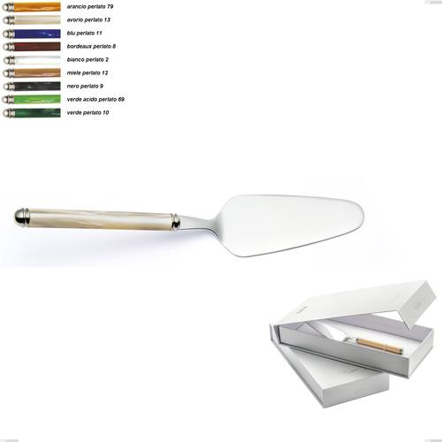 Confezione a libro 1 pezzo pala torta Linea Perlato, Acciaio inox 18/10 (AISI304)