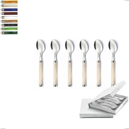 Confezione a libro 6 pezzi cucchiaini caffè Linea Perlato, Acciaio inox 18/10 (AISI304)