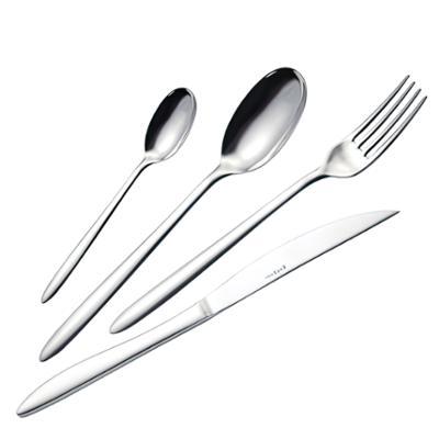 Servizio Posate LIVE 24 pezzi 6 posti tavola in acciaio 18/10 4 pezzi spessore 2 mm