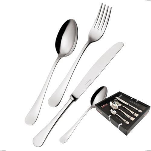 Confezione vetrina 24 pezzi coltello economico Milano inox 18/10 , Acciaio inox 18/10 (AISI304) lucido a specchio, spessore 2,5 mm
