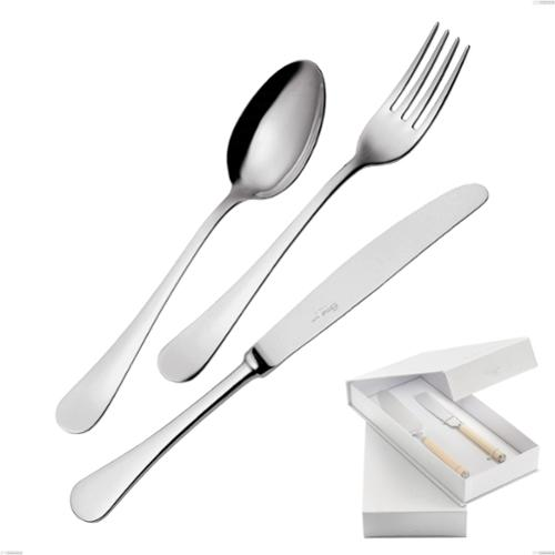 Confezione a libro 2 pezzi,paletta più coltello dolce da servizio Milano inox 18/10 , Acciaio inox 18/10 (AISI304) lucido a specchio, spessore 2,5 mm