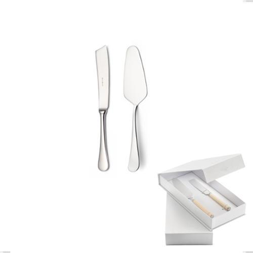 Confezione a libro 2 pezzi,paletta più coltello dolce da servizio Milano Inciso , 18/10 (AISI304) acciaio inox Lucido , spessore 2,5 mm