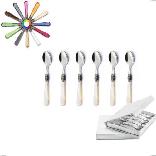 Confezione a libro 6 pezzi cucchiaino moka Napoleon, (acciaio 18.10 aisi304), manici in metacrilato