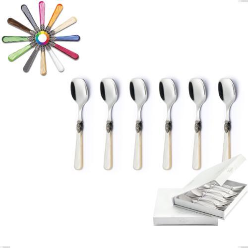 Confezione a libro 6 pezzi cucchiaini gelato Napoleon, (acciaio 18.10 aisi304), manici in metacrilato