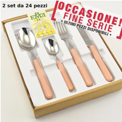 Servizio Posate 48 pezzi colorate BRIO ROSA 53 EME