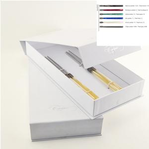 Confezione a libro 2 Coppie di bacchette chopstick per cucina asiatica 220 mm vari colori