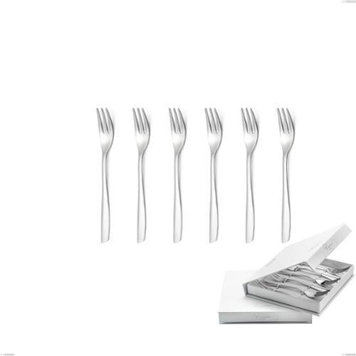 Confezione a libro 6 pezzi forchette dolce Shark, Acciaio inox 18/C (AISI430), spessore 2.00 mm