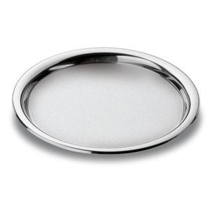 Vassoio Rotondo Fondo Convivio Ø 30 cm con bordo inox lucido ed interno sabbiato