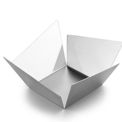 Cestino Pane KENTO 12,5x12,5xh5 cm in acciaio inox 18/10 finitura inox lucido