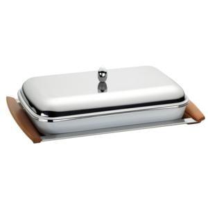 Portapirofila con pirofila rettangolare con coperchio Finitura Lucida 47x30,5cm Manici in Ciliegio Allure
