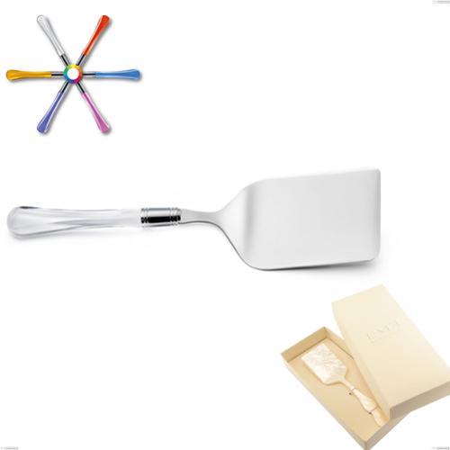 Confezione Bomboniera 1 pezzo pala lasagne Zaffiro, (acciaio 18.10 aisi304), manico in metacrilato