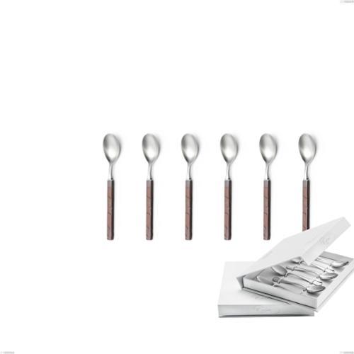 Confezione a libro 6 pezzi cucchiaino moka Zeus Fire, acciaio forgiato 18/10 (AISI 304)