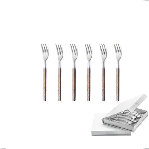Confezione a libro 6 pezzi forchette dolce Zeus Fire, acciaio forgiato 18/10 (AISI 304)