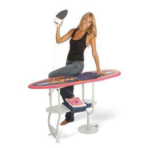 Asse da stiro richiudibile SURF con telaio in tubo di acciaio ad altissimo spessore Fucsia
