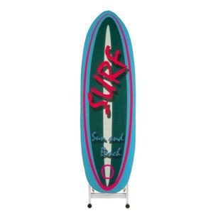 Asse da stiro richiudibile Si Ci Stiro Sport con telaio in legno di faggio con ruote attive a prodotto chiuso Azzuro
