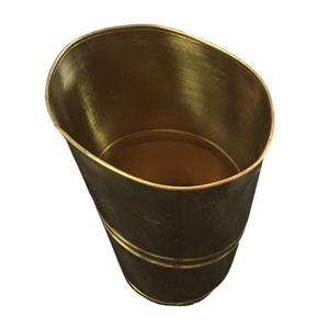 Portaombrelli in ottone Ovale 35x25xh50 cm - L28 ottone massiccio martellato a mano