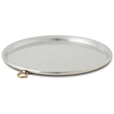 Teglia Per Farinata diametro diametro 70xh2,5 cm in rame martellato a Mano Linea Traditional