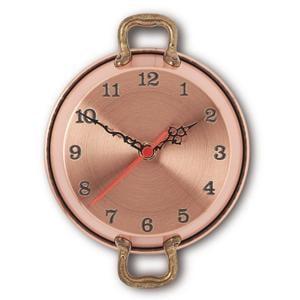 Orologio Tegame in Rame Ø 22 cm martellato a mano liscio