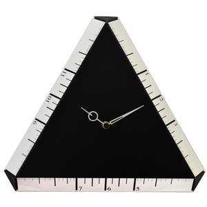 Orologio da muro Pitagora in MDF Laccato 35x3xh30 cm Colore Nero
