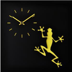 Orologio da parete LLA stampa su MDF Laccato 38,5xh38,5 cm per camerette bambini rana gialla
