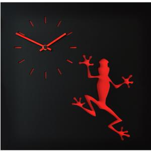 Orologio da parete LLA stampa su MDF Laccato 38,5xh38,5 cm per camerette bambini rana rossa